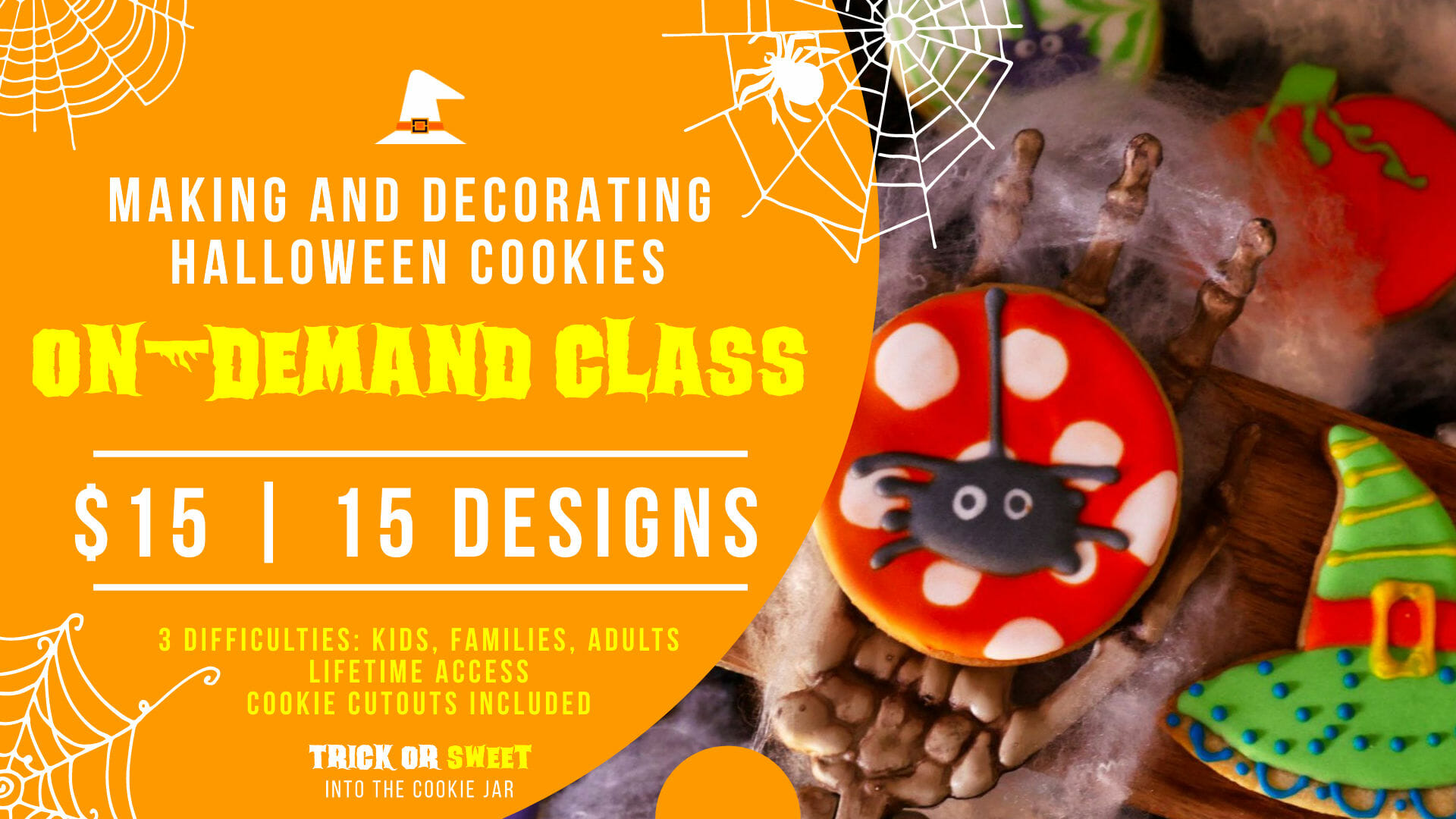 Trick or Sweet cookie class event cover 3